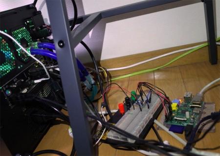 2ch A/D コンバータ MPC3002とRaspberry Piで消費電力ロガー
