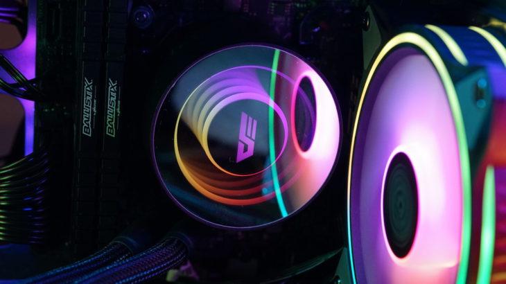 簡易水冷CPUクーラーを120mmに交換。ついでにケースファンもアドレサブルに統一しました。